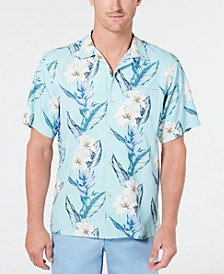 Men's Palmdale Vines IslandZone Floral-Print Camp Collar Shirt