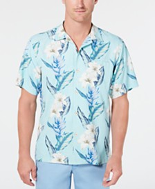 Tommy Bahama Men's Palmdale Vines IslandZone Floral-Print Camp Collar Shirt