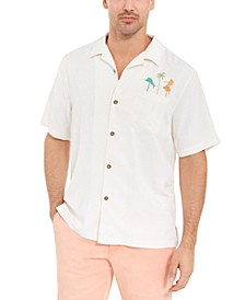Men's Swizzle Sizzle Classic-Fit Embroidered Silk Camp Shirt
