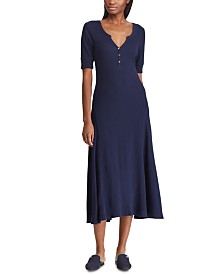 Lauren Ralph Lauren Petite Waffle-Knit Cotton Fit & Flare Dress
