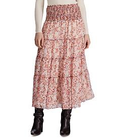 Lauren Ralph Lauren Petite Tiered Georgette Peasant Skirt