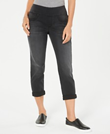 Style & Co Ella Pull-On Boyfriend Jeans, Created for Macy's
