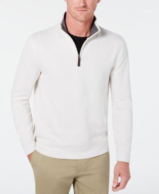 Men's Birdseye Quarter-Zip Sweater, Created for Macy's