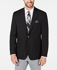 Men's Classic-Fit UltraFlex Stretch Black Solid Blazer