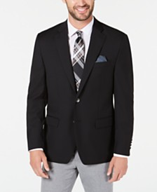 Lauren Ralph Lauren Men's Classic-Fit UltraFlex Stretch Black Solid Blazer