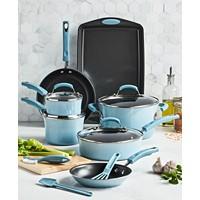Rachael Ray 14-Piece Nonstick Cookware Set (Sky Blue)