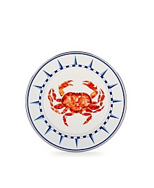 """Golden Rabbit Crab House Enamelware Collection 10.5"""" Dinner Plate"""