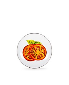 """Golden Rabbit Tomatoes Enamelware Collection 8"""" Sandwich Plate"""