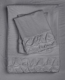 Hudson Main Clover Ruched Ultrasilk Queen Sheet Set