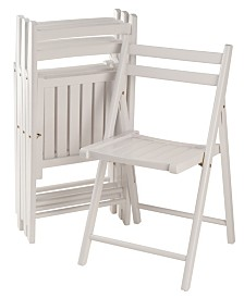 Winsome Wood Robin 4-Piece Folding Chair Set