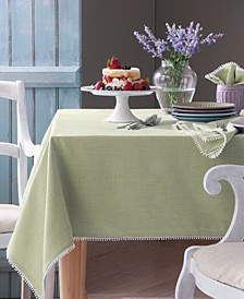 French Perle Pistachio Table Linen Collection