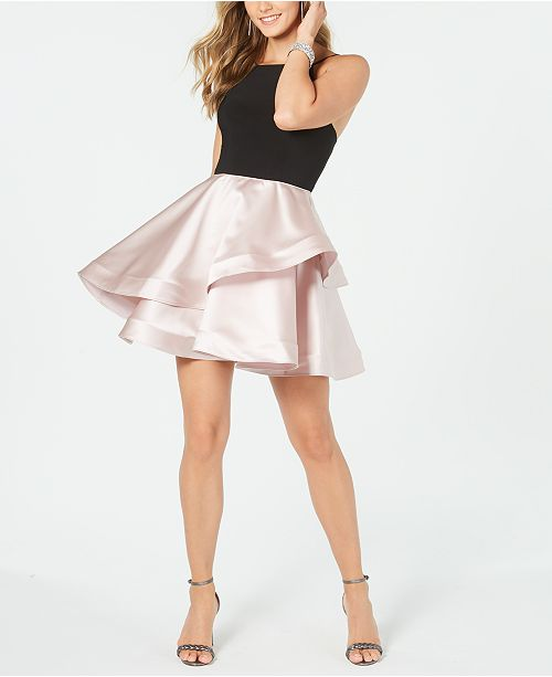 Betsy & Adam Halter-Top Fit & Flare Dress