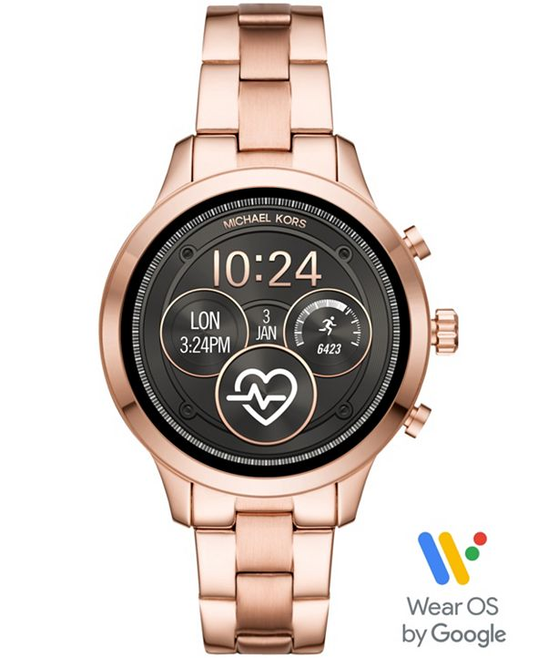 Michael Kors Access Gen 4 Runway Rose Gold-Tone Stainless Steel Bracelet Touchscreen Smart Watch 41mm, Powered by Wear OS by Google™