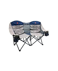 Moon phase Home-Away Heavy Duty Double Loveseat 600 Pounds Capacity Folding Camp Chair