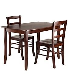 Wood Inglewood 3-Piece Dining Table Set