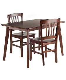 Winsome Wood Shaye 3-Piece Set Dining Table with Slat Back Chairs