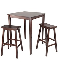 3-Piece Inglewood High/Pub Dining Table with Saddle Stool