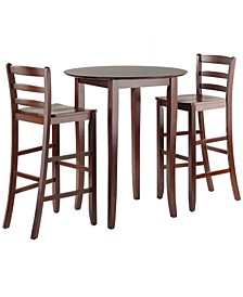 Fiona 3-Piece High Round Table with Ladder Back Stool