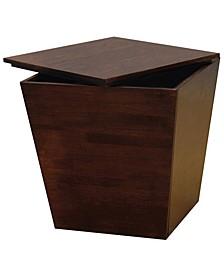 Wood Mesa Storage Cube End Table