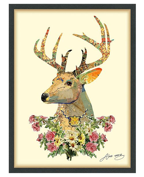 Empire Art Direct 'Mrs. Deer' Dimensional Collage Wall Art - 25'' x 33''