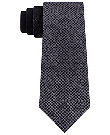 Men's Slim Ombré Abstract Check Tie