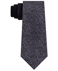 DKNY Men's Slim Ombré Abstract Check Tie