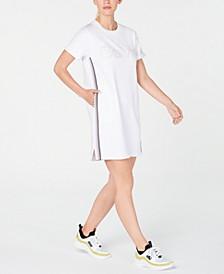 Logo Ombré-Stripe Sneaker Dress