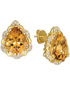 Le Vian® Cinnamon Citrine (6 ct. t.w.) & Nude Diamonds (1/4 ct. t.w.) Stud Earrings in 14k Gold