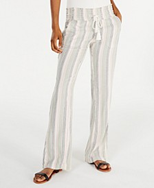 Juniors' Oceanside Cotton Striped Pants