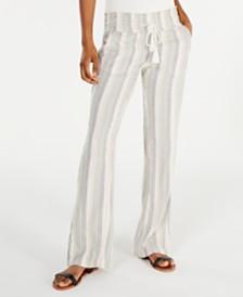 Roxy Juniors' Oceanside Cotton Striped Pants