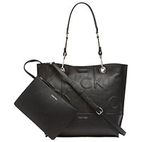 Deals on Calvin Klein Signature Reversible Tote With Pouch