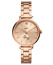 Fossil Women's Kayla Rose Gold-Tone Stainless Steel Bracelet Watch 36mm