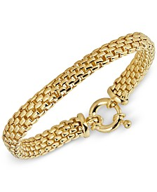 Italian Gold Chain Link Bracelet in 14k Gold