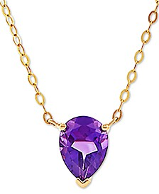 "Amethyst (9/10 ct. t.w.) 17"" Pendant Necklace in 14k Gold"