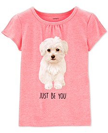 Toddler Girls Fluffy Puppy T-Shirt