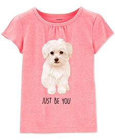 Carter's Toddler Girls Fluffy Puppy T-Shirt
