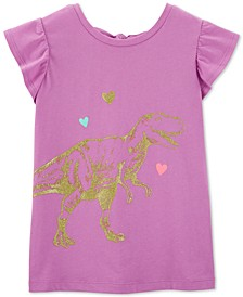 Little & Big Girls Bow-Back Dinosaur-Print Cotton T-Shirt