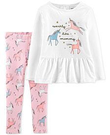 Carter's Toddler Girls 2-Pc. Unicorn Top & Leggings Set