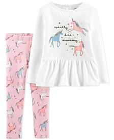 Carter's Toddler Girls 2-Pc. Unicorn Top & Leggings Set