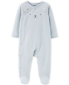 Baby Boys 1-Pc. Mouse Terry Footed Pajamas