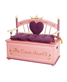 Wildkin Princess Bench Seat with Storage