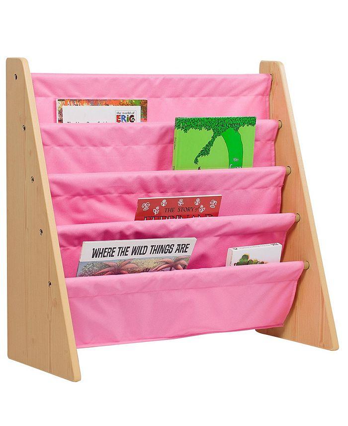 Wildkin - Sling Book Shelf - Natural w/ Pink