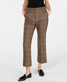 Weekend Max Mara Pantera Plaid Pants