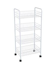 4 Tier Rolling Storage Cart