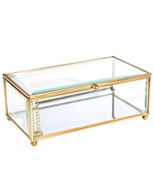 Vintage Mirrored Bottom Large Keepsake Box