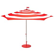 Outdoor Striped Parasol, Quick Ship