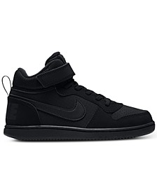 Little Boys Court Borough Mid Stay-Put Closure Casual Sneakers from Finish Line