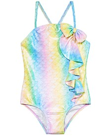 Sol Swimwear Little Girls 1-Pc. Mermaid Glamour Swimsuit