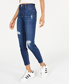 Celebrity Pink Juniors' Distressed Skinny Ankle Jeans