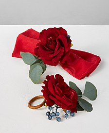 Martha Stewart Collection Rose & Pine Napkin Rings, Set of 2, Created for Macy's